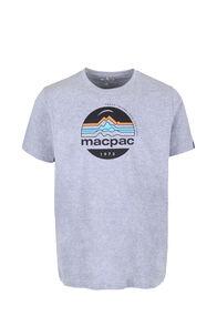 Macpac Retro Organic Tee — Men's, Grey Marle, hi-res