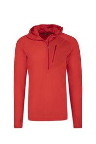 Macpac Prothermal Polartec® Hooded Pullover — Men's, Flame Scarlet, hi-res