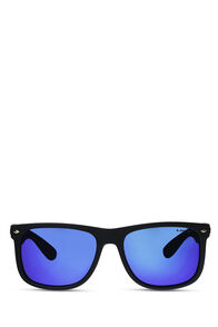 Liive Vision El Capitan Polarised Mirror Sunglasses, Matt Black, hi-res