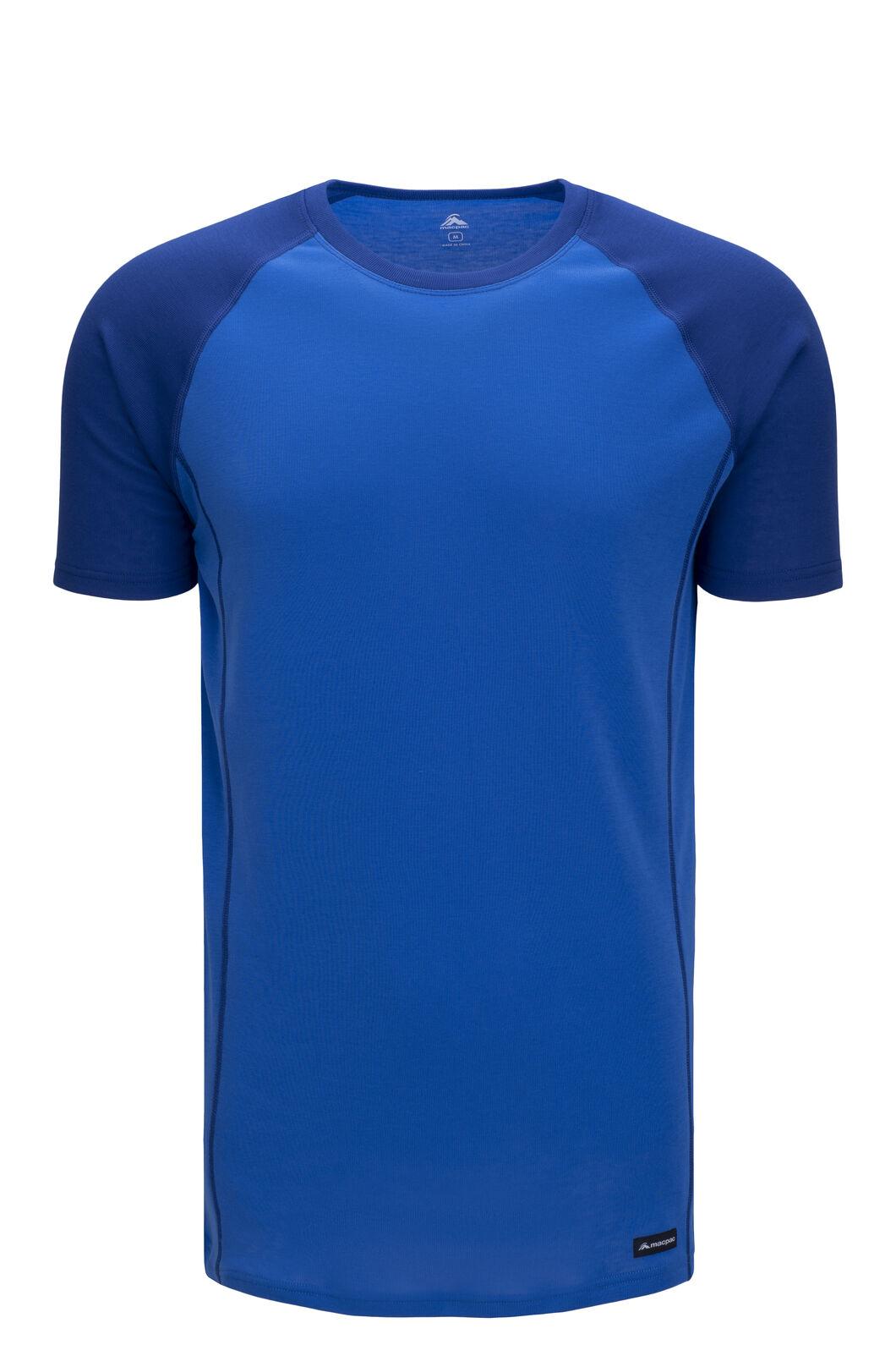 Macpac Men's Geothermal Short Sleeve Tee, Sodalite Blue/Strong Blue, hi-res