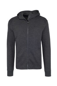 Macpac Ohau 320 Merino Hooded Jacket — Men's, Charcoal Marle, hi-res