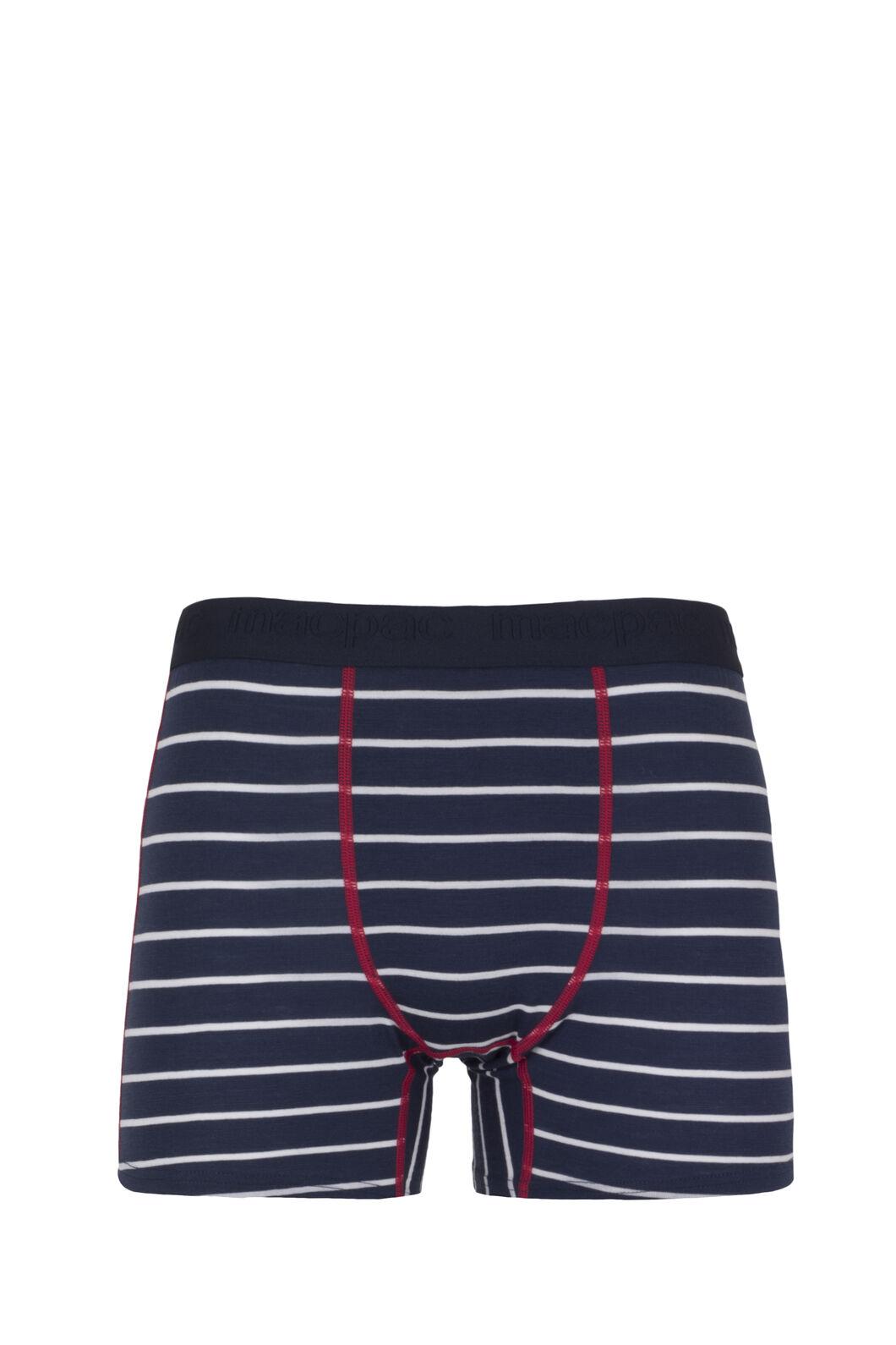 Macpac 180 Merino Boxers — Men's, Black Iris Stripe/Jester, hi-res
