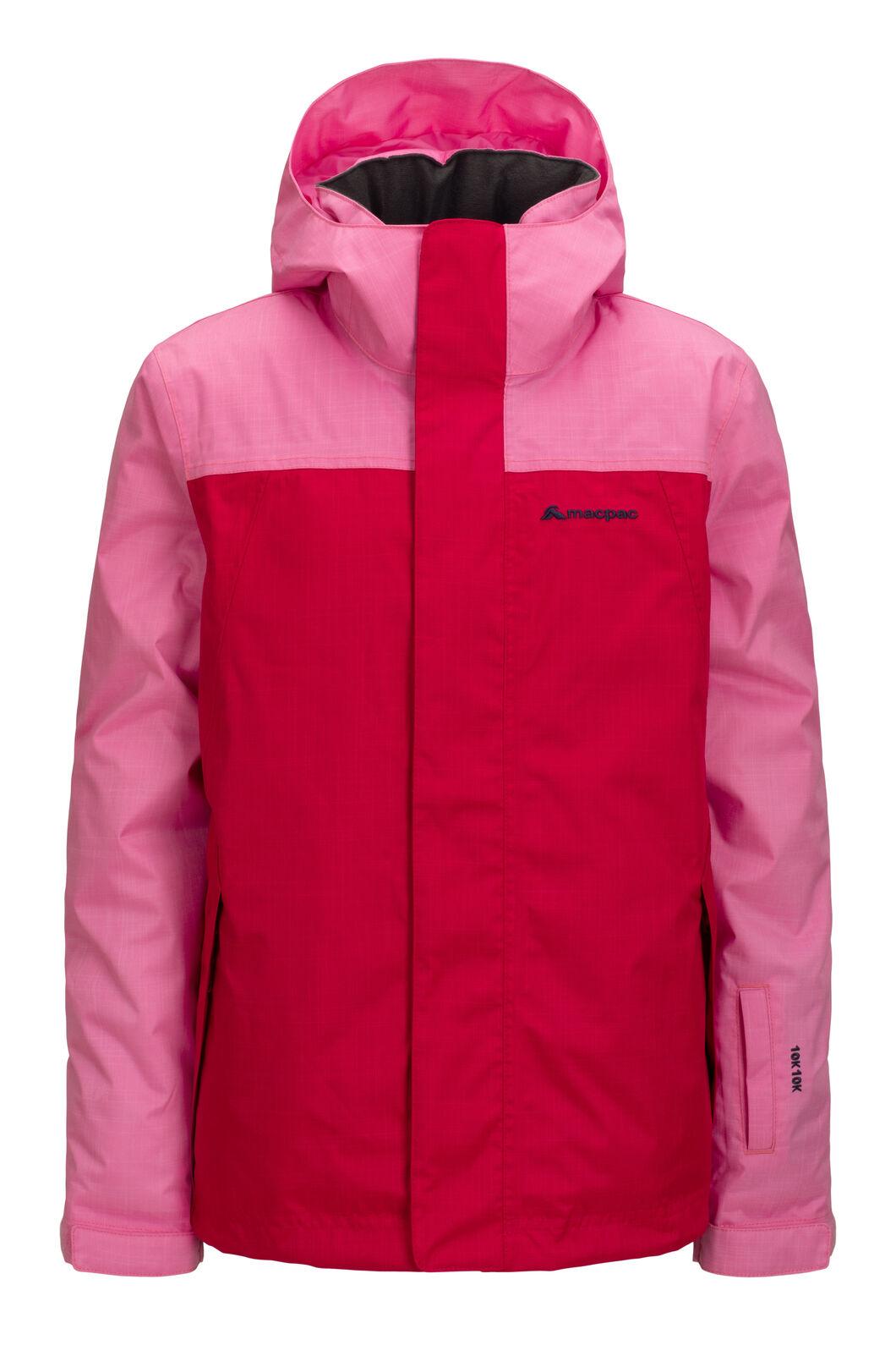 Macpac Kids' Spree Reflex™ Ski Jacket, Wild Orchid/Jazzy, hi-res