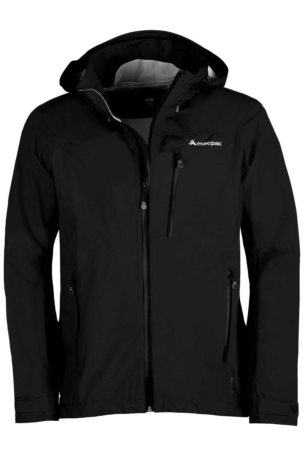 Macpac Traverse Pertex®Rain Jacket - Men's, Black, hi-res