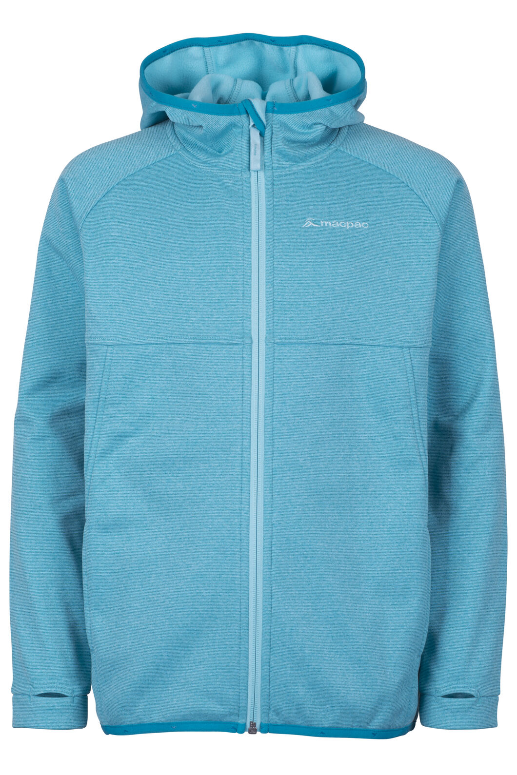 Macpac Kiwi Fleece Jacket - Kids', Enamel Blue, hi-res