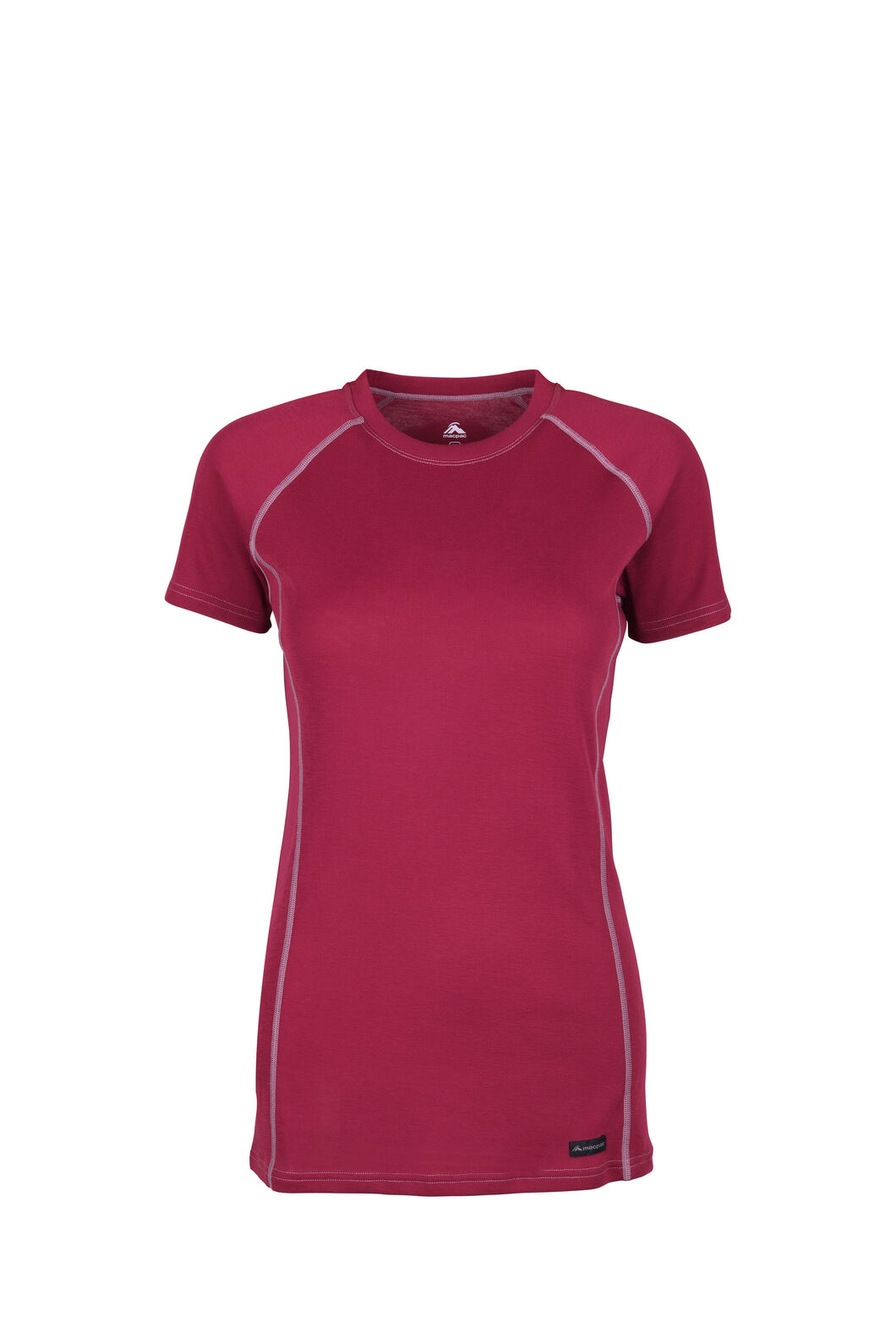 Macpac Geothermal Short Sleeve Top — Women's, Red Plum, hi-res