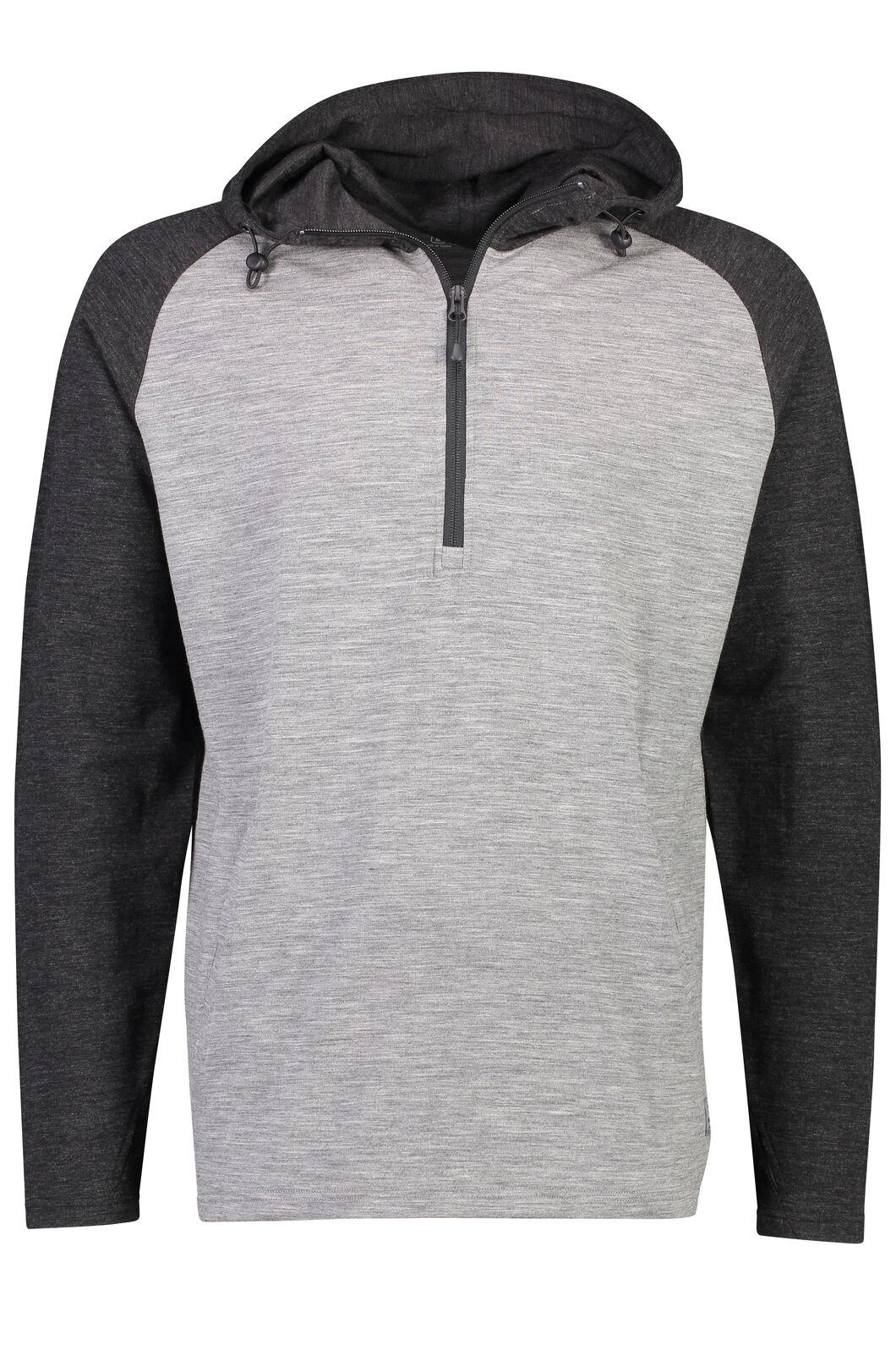 Macpac Merino 230 Long Sleeve Hoody - Men's, Grey Marle/Charcoal Marle, hi-res