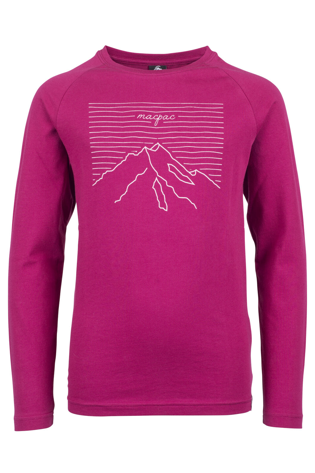Macpac Summit Long Sleeve Tee - Kids', Beet Red, hi-res