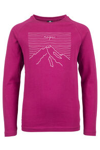 Summit Long Sleeve Tee - Kids', Beet Red, hi-res