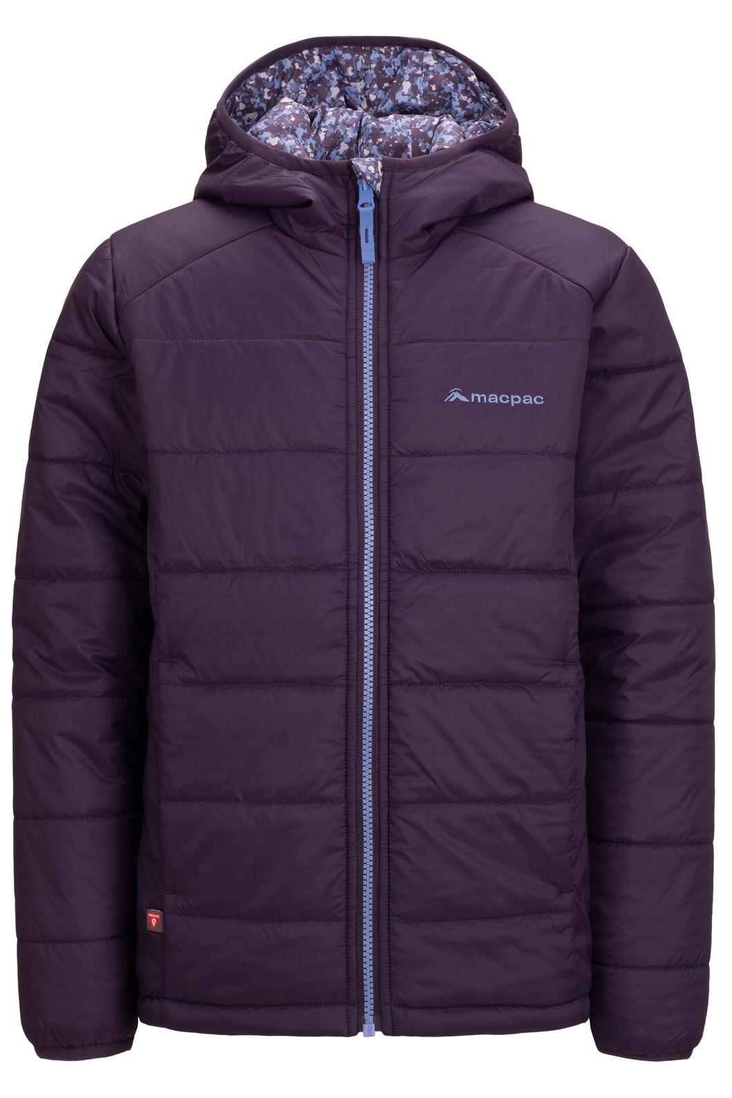 Macpac Kids' Pulsar Alpha PrimaLoft® Hooded Jacket, Nightshade Print, hi-res