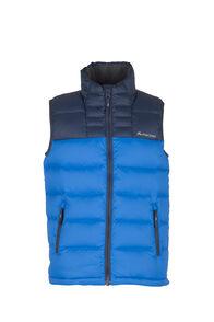 Macpac Atom Down Vest — Kids', Black Iris/Snorkel, hi-res