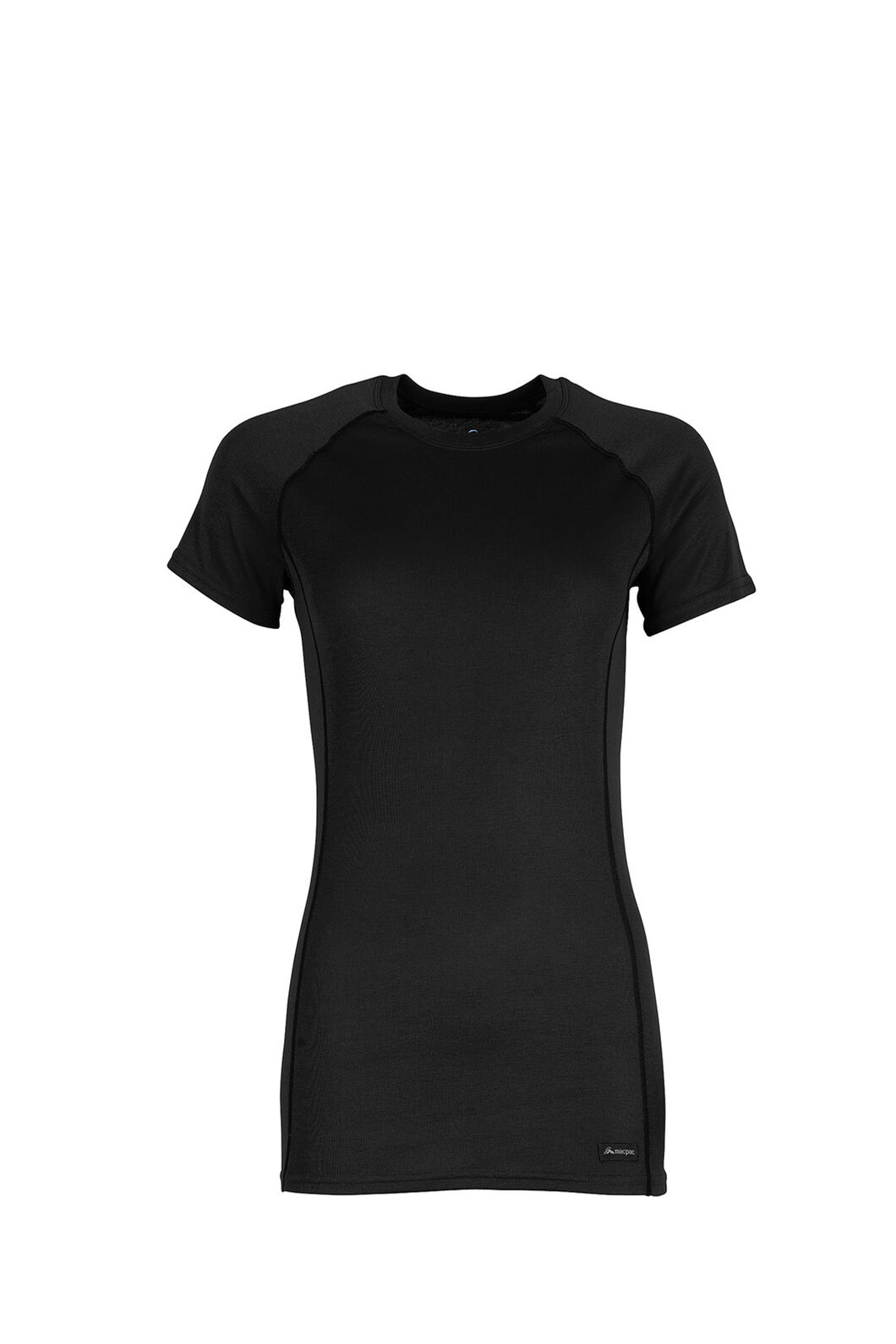 Macpac Geothermal Short Sleeve Top - Women's, Black, hi-res