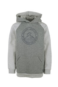 Macpac Organic Pullover Hoody - Kids', Grey Marle/Light Grey Marle, hi-res