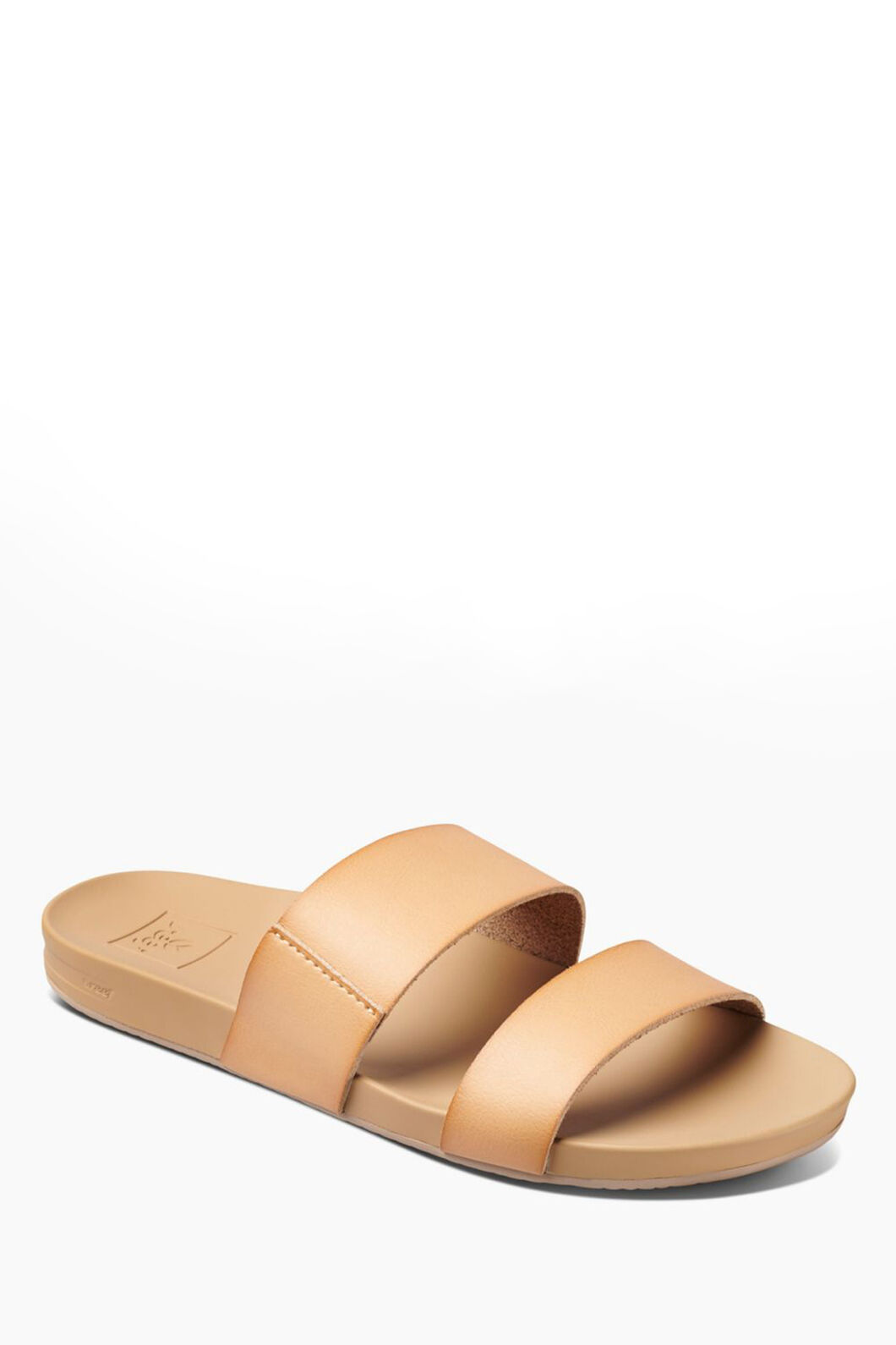 Reef Cushion Vista Slide Sandals — Women's, Natural, hi-res