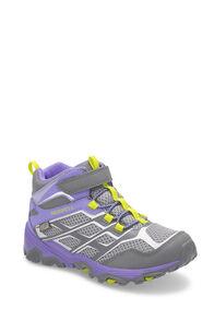 Merrell Moab FST Mid WP Boots — Kids', GREY/PURPLE, hi-res