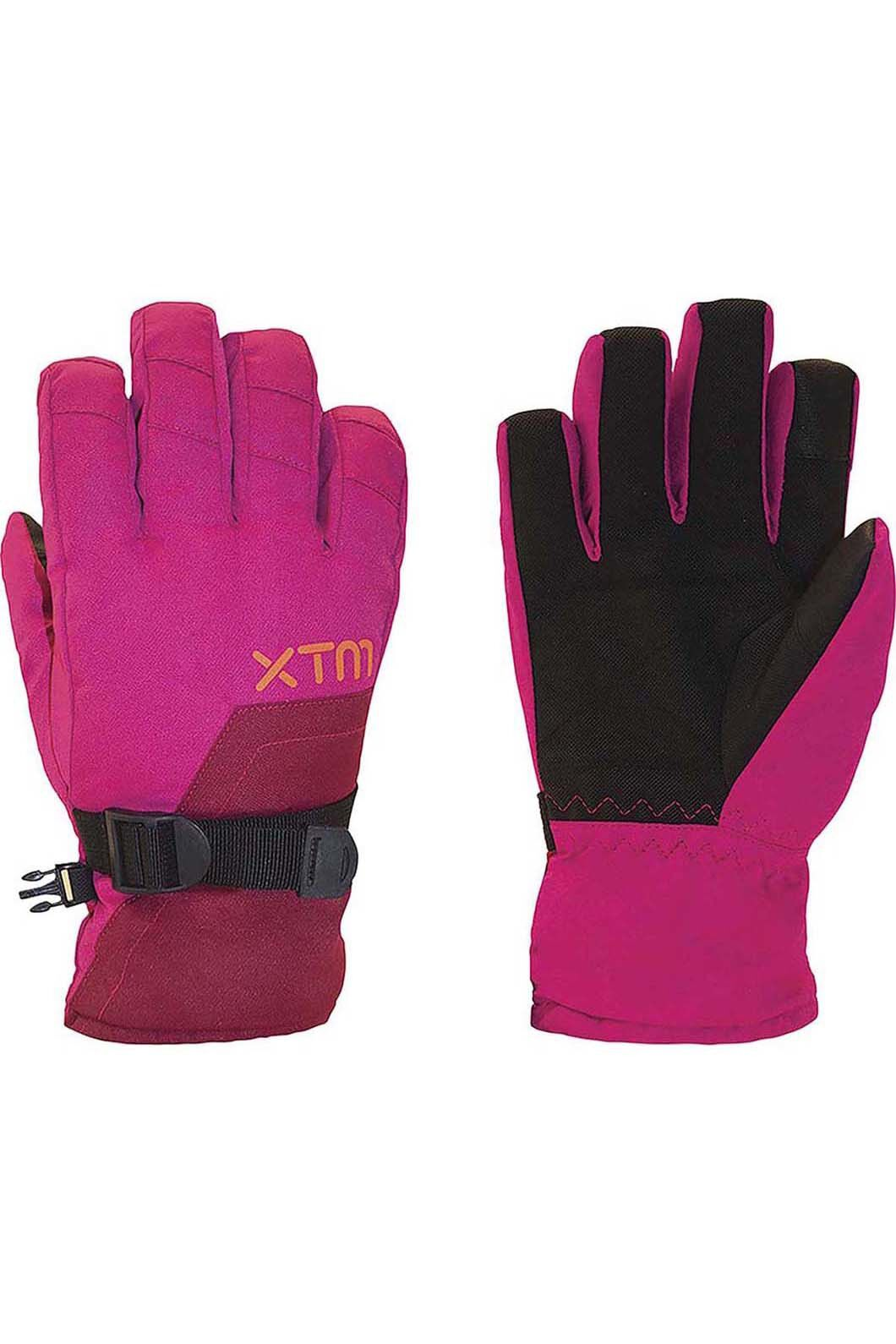 XTM Kids' Zima Gloves, Hot Pink, hi-res