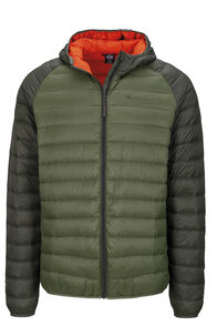 Macpac Uber Hooded Down Jacket — Men's, Kombu/Bronze Green, hi-res