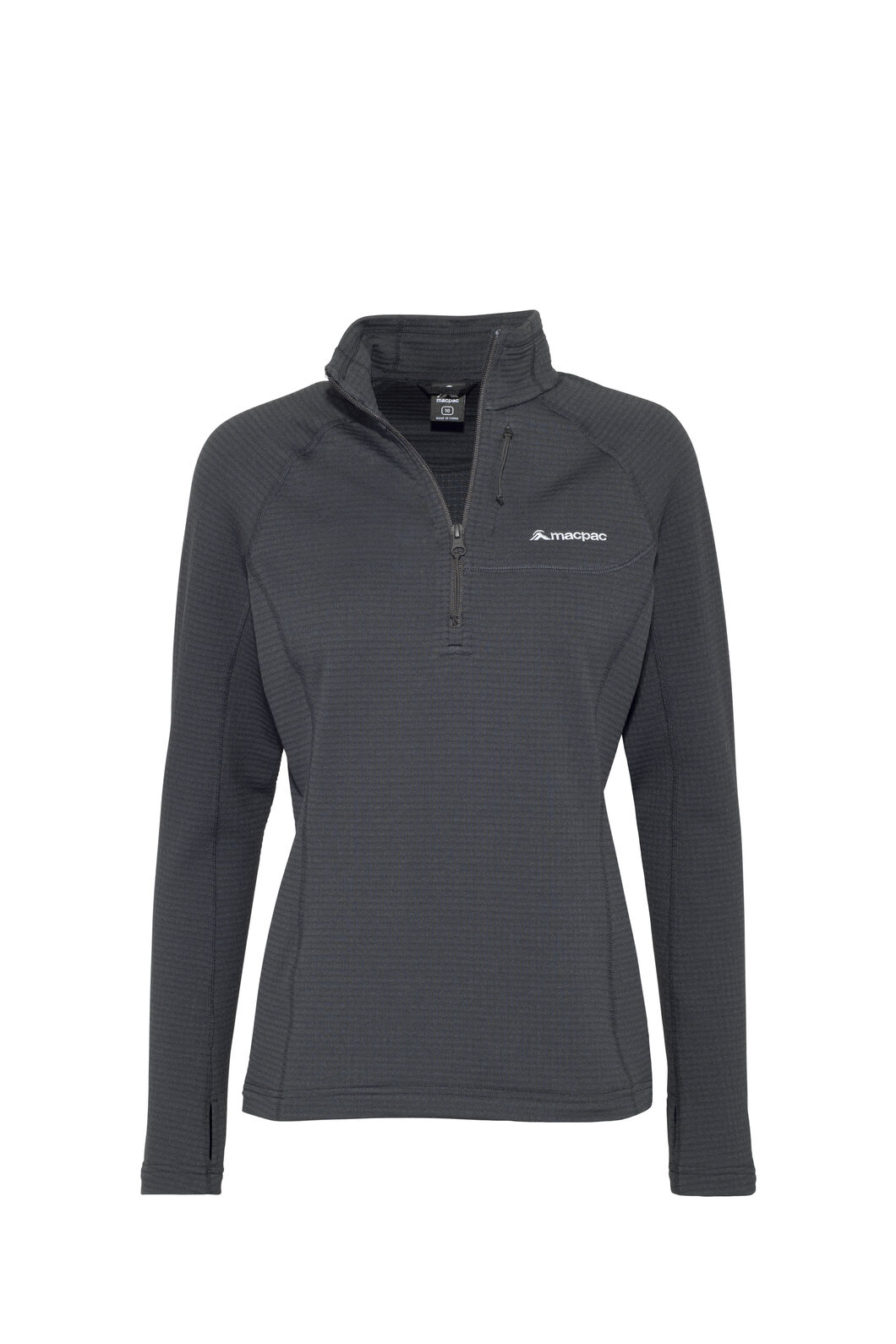 Macpac Ion Polartec® Fleece Half Zip Pullover — Women's, Black, hi-res