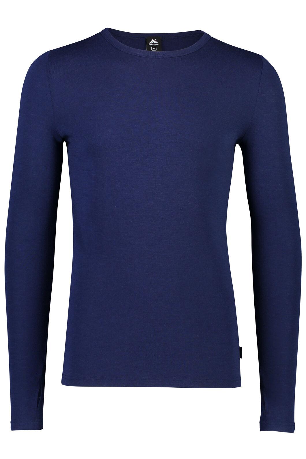 Macpac 220 Merino Long Sleeve Top - Men's, Medieval Blue, hi-res