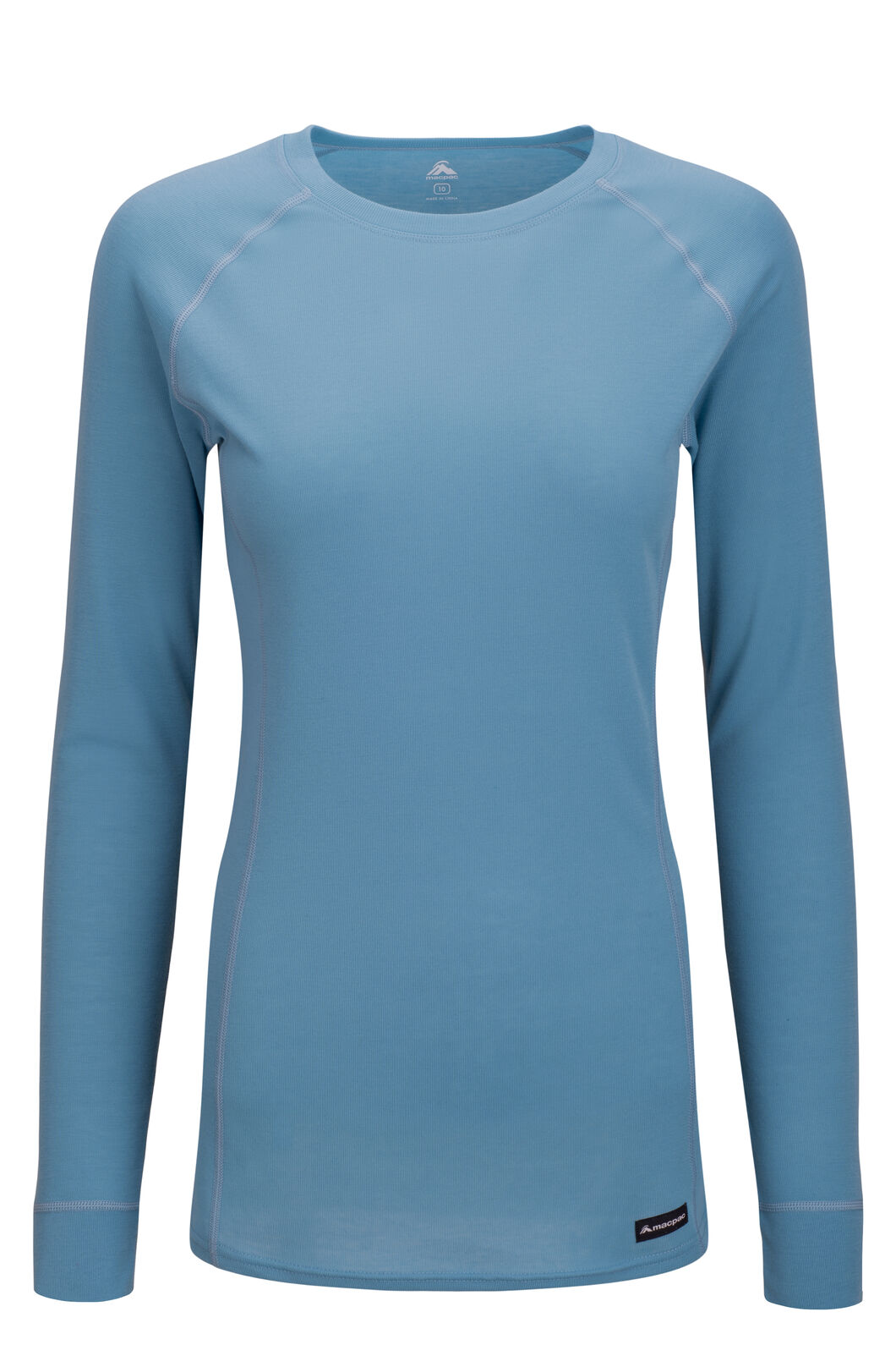 Macpac Women's Geothermal Long Sleeve Top, Delphinium, hi-res