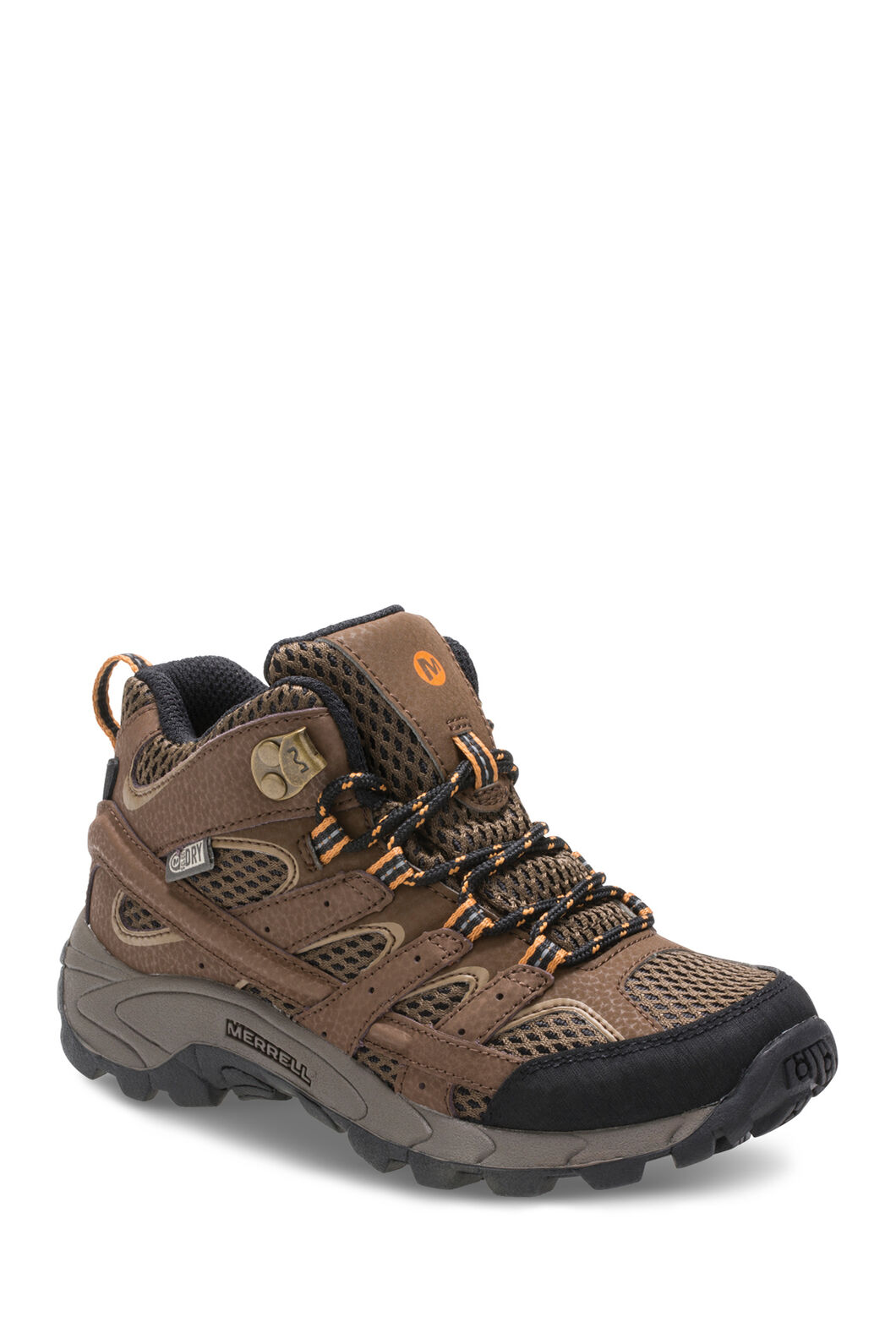 Merrell Moab 2 Waterproof Hiking Boots — Kids', Earth, hi-res