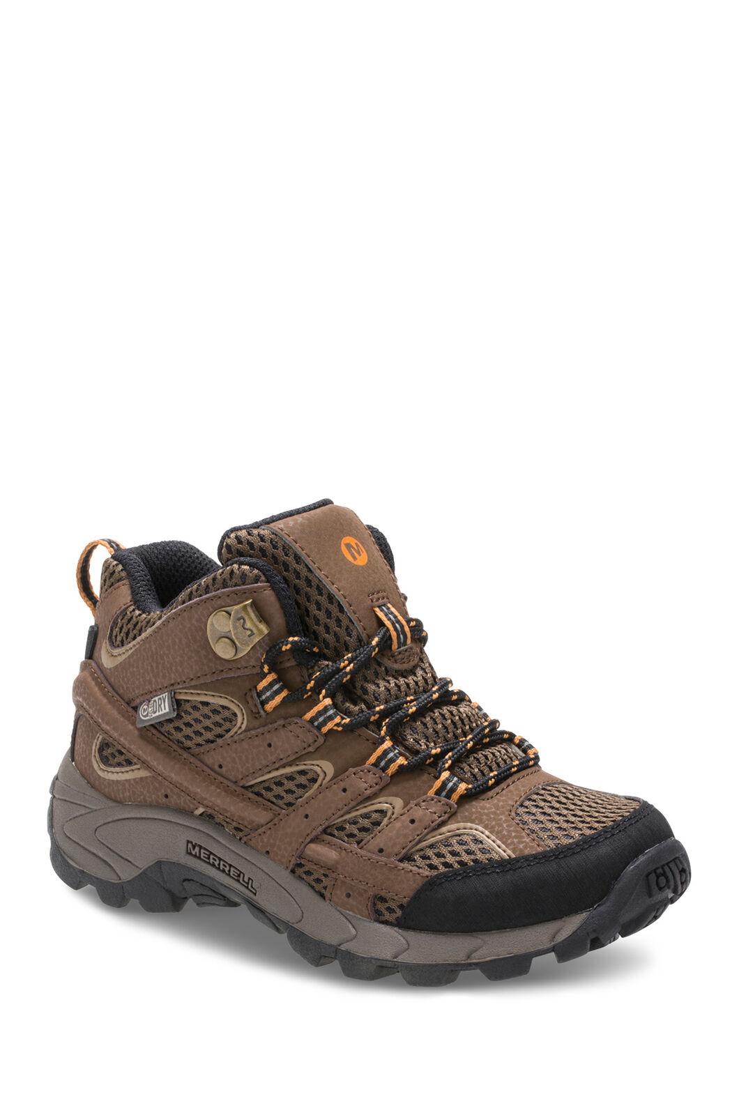Merrell Moab 2 Waterproof Hiking Boots — Kids', Earth, hi-res