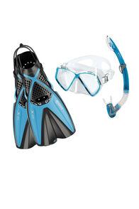 Mares X-One/Pirate Jnr Snorkelling Set, Aqua, hi-res