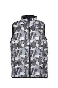 Macpac Kids' Pulsar Alpha PrimaLoft® Vest, Black Print/Black, hi-res