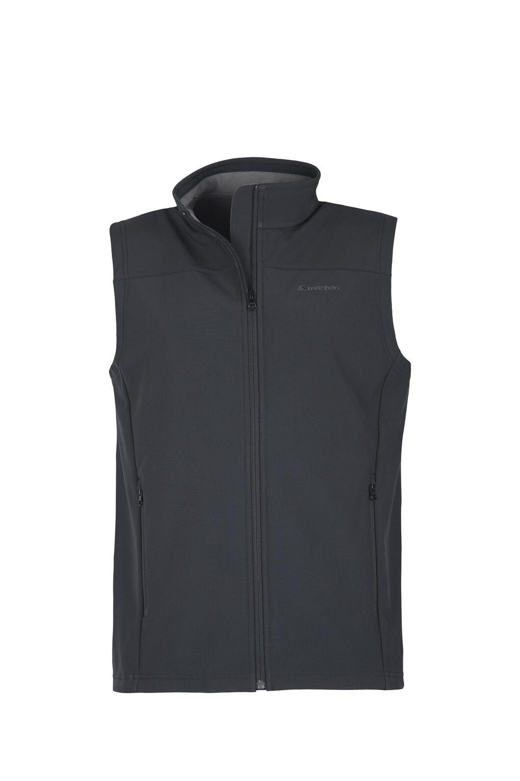 Macpac Sabre Softshell Vest - Men's, Black, hi-res
