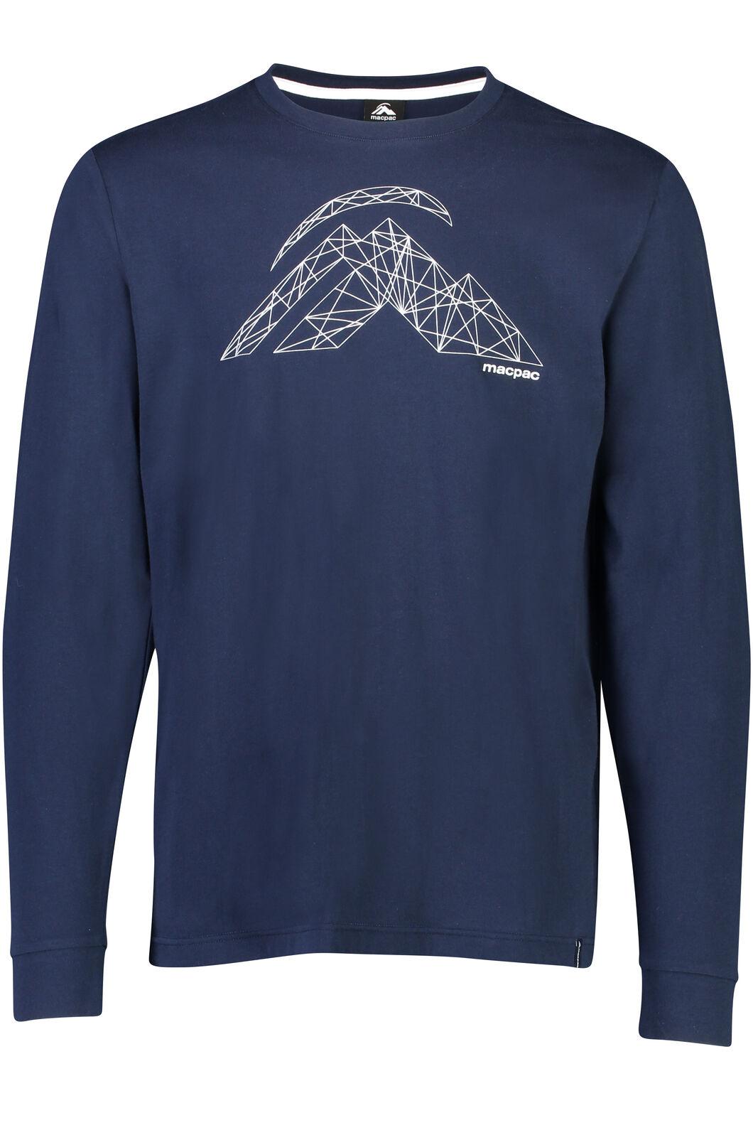String Logo Long Sleeve Tee - Men's, Black Iris, hi-res