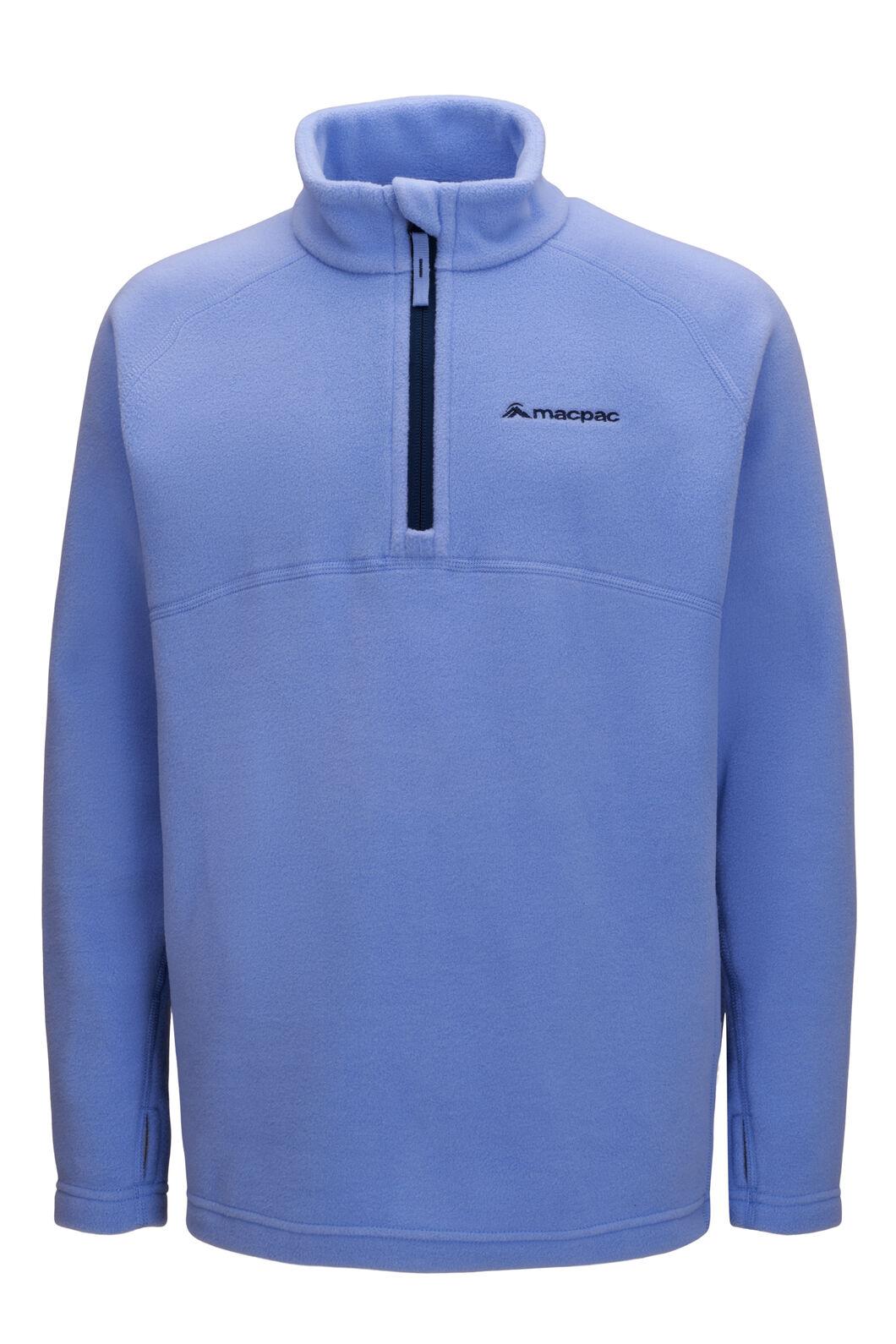 Macpac Kids' Tui Polartec® Fleece Pullover, Cornflower, hi-res