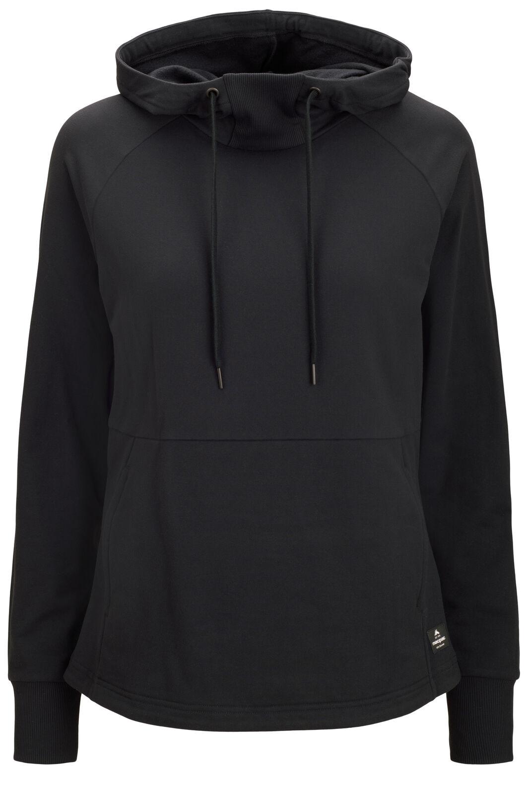 Macpac Rhythm Hooded Pullover — Women's, Black, hi-res