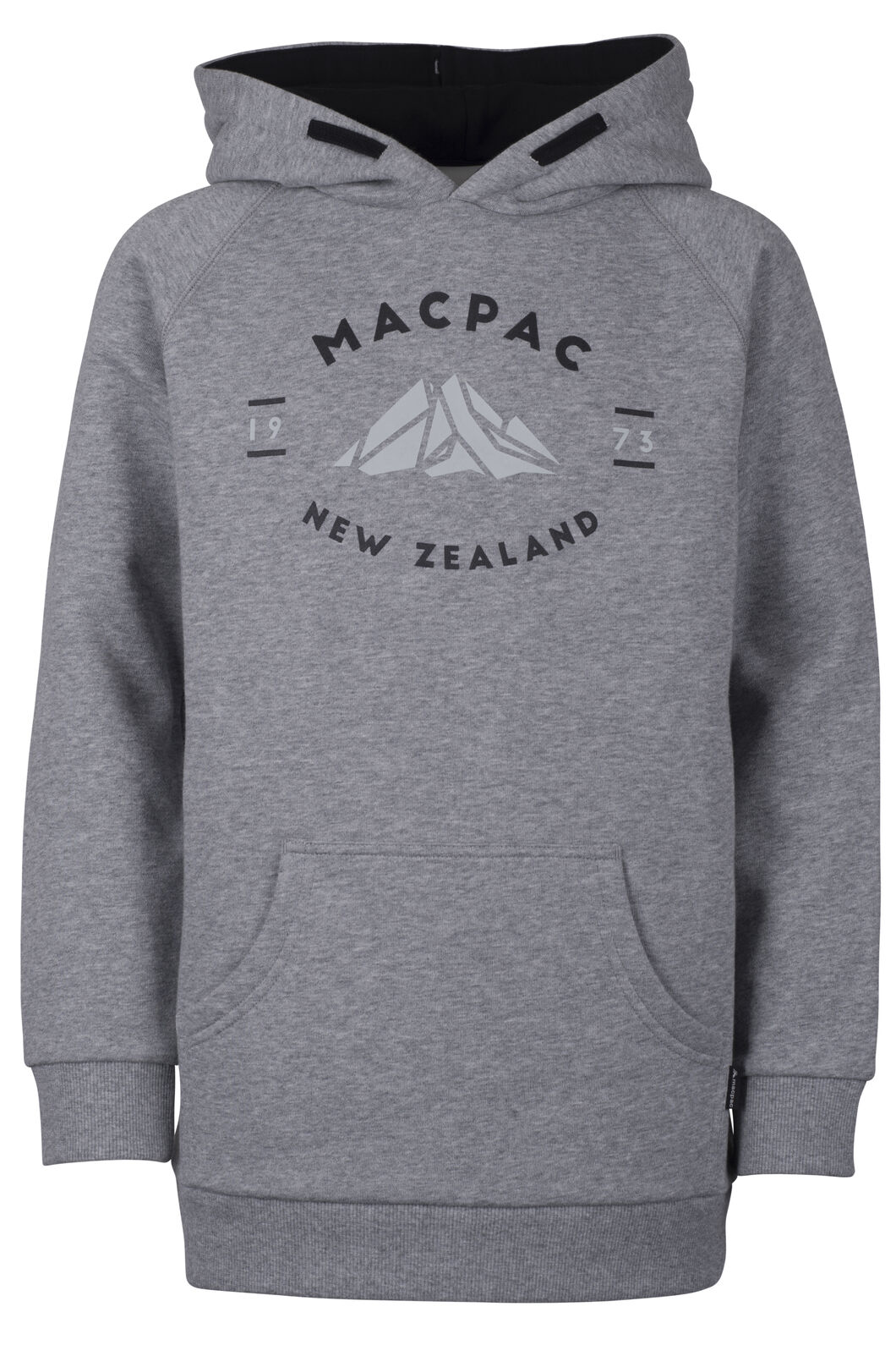 Macpac Organic Mountain Hoody - Kids', Grey Marle, hi-res