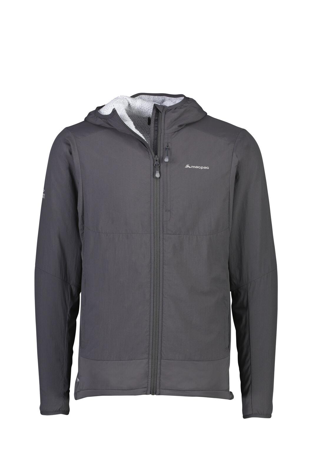 Macpac Pisa Polartec® Hooded Jacket — Men's, Phantom/Pearl, hi-res