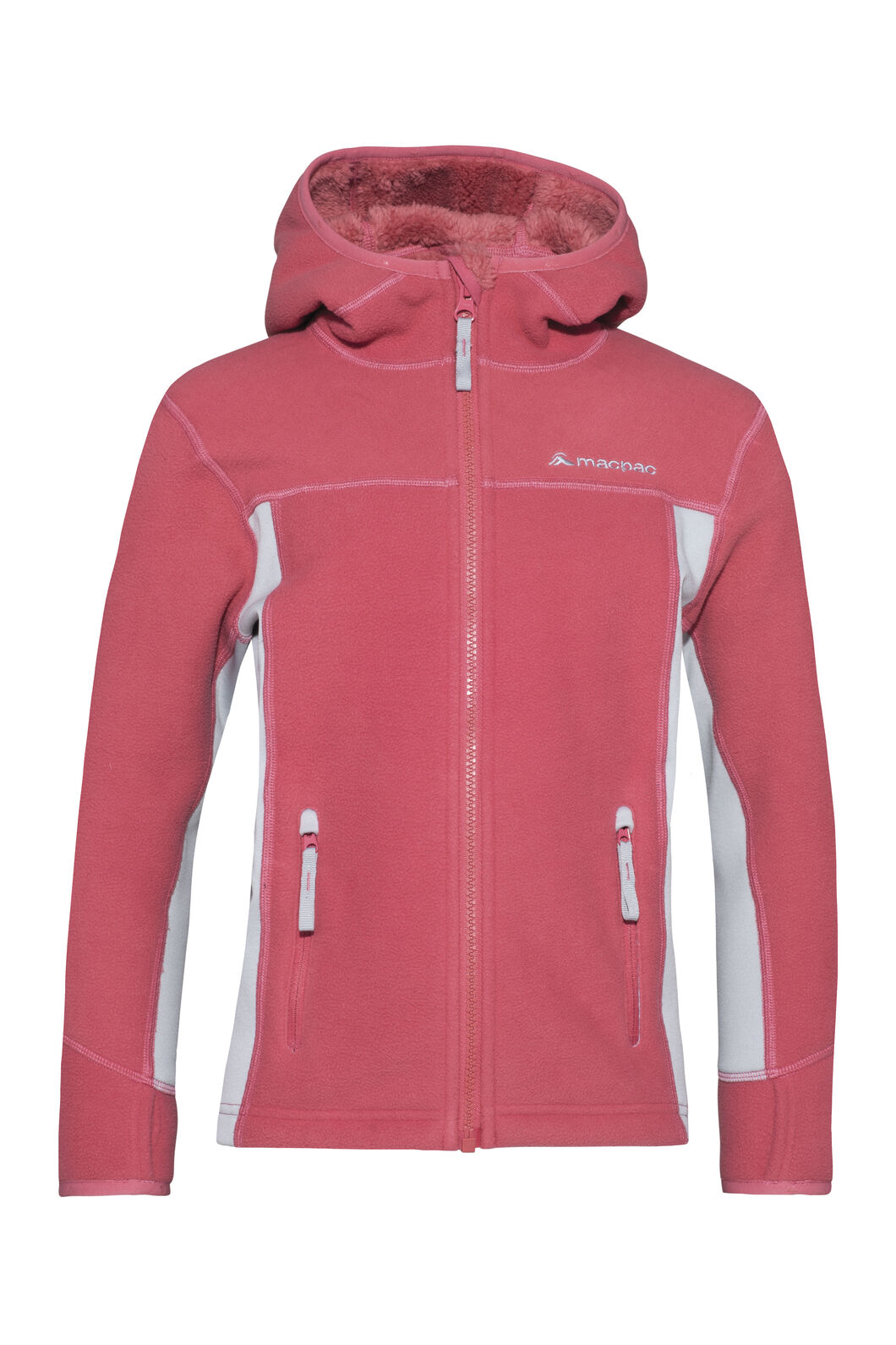 Macpac Mini Mountain Hooded Jacket — Kids', Slate Rose/High Rise, hi-res