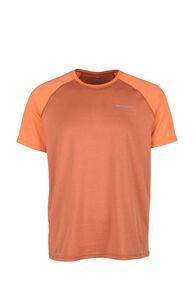 Macpac Eyre Short Sleeve Tee — Men's, Persimmon Orange/Burnt Orange, hi-res