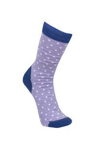 Macpac Kids' Footprint Sock, Clematis/Sweet Lavendar, hi-res