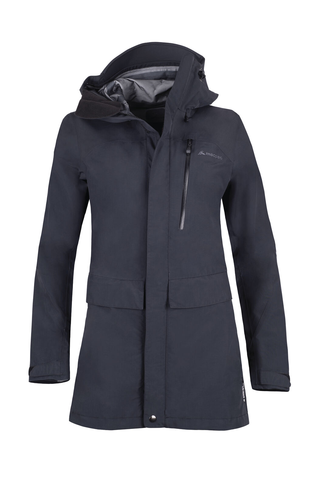 Macpac Resolution Pertex® Rain Jacket — Women's, Black, hi-res
