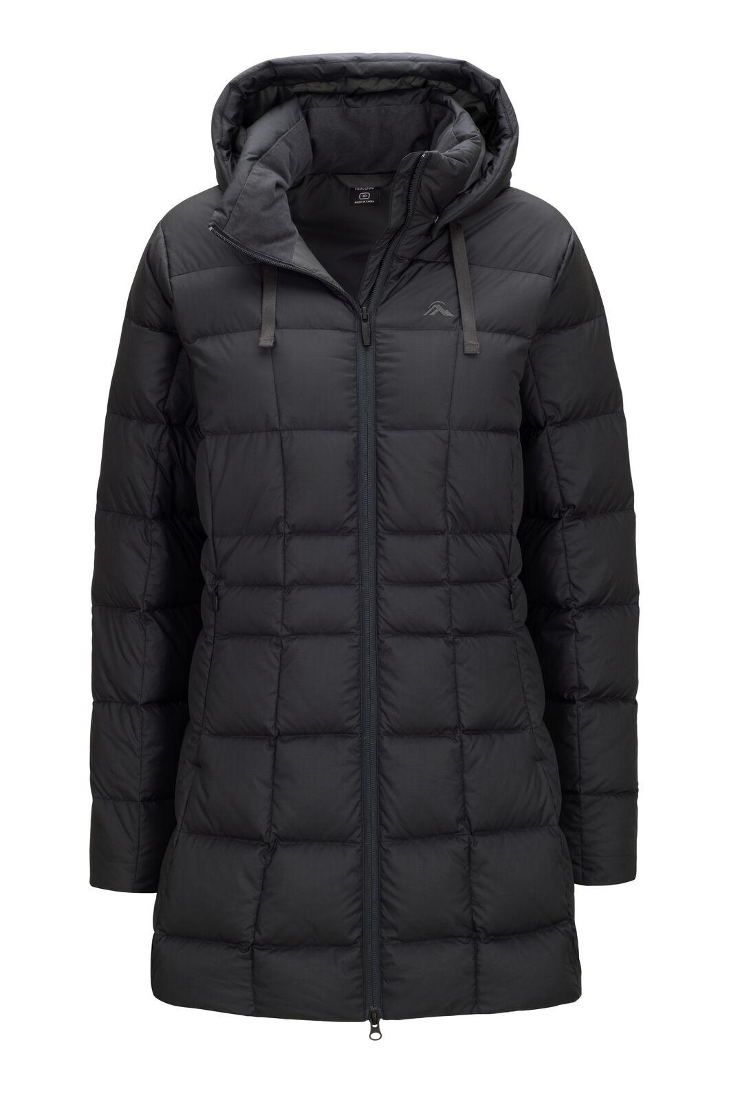 Macpac Women's Aurora Hooded Down Coat ♺, Black, hi-res