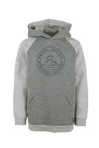 Macpac Organic Cotton Pullover Hoody - Kids', Grey Marle/Light Grey Marle, hi-res