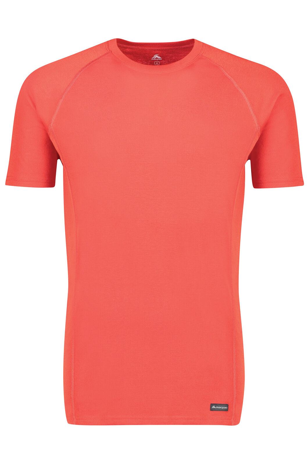 Macpac Geothermal Short Sleeve Top - Men's, Pompeian, hi-res