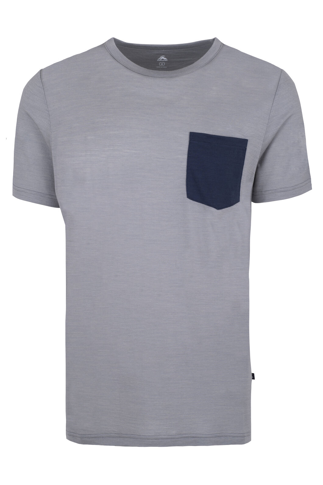 Macpac Merino Blend Travel Tee — Men's, Mid Grey, hi-res