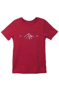 Mountain Print Organic Cotton Tee - Kids', Pompeian, hi-res
