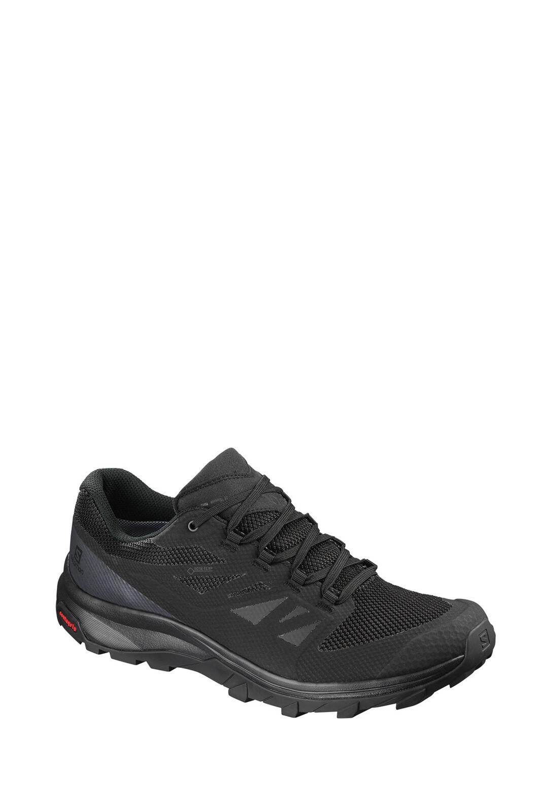 Salomon Outline GTX Hiking Shoes - Men's, Blk/Phantom/Magnet, hi-res
