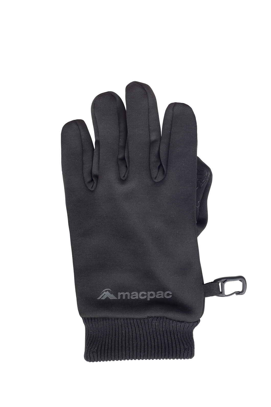 Macpac Fleece Gloves — Kids', Black, hi-res