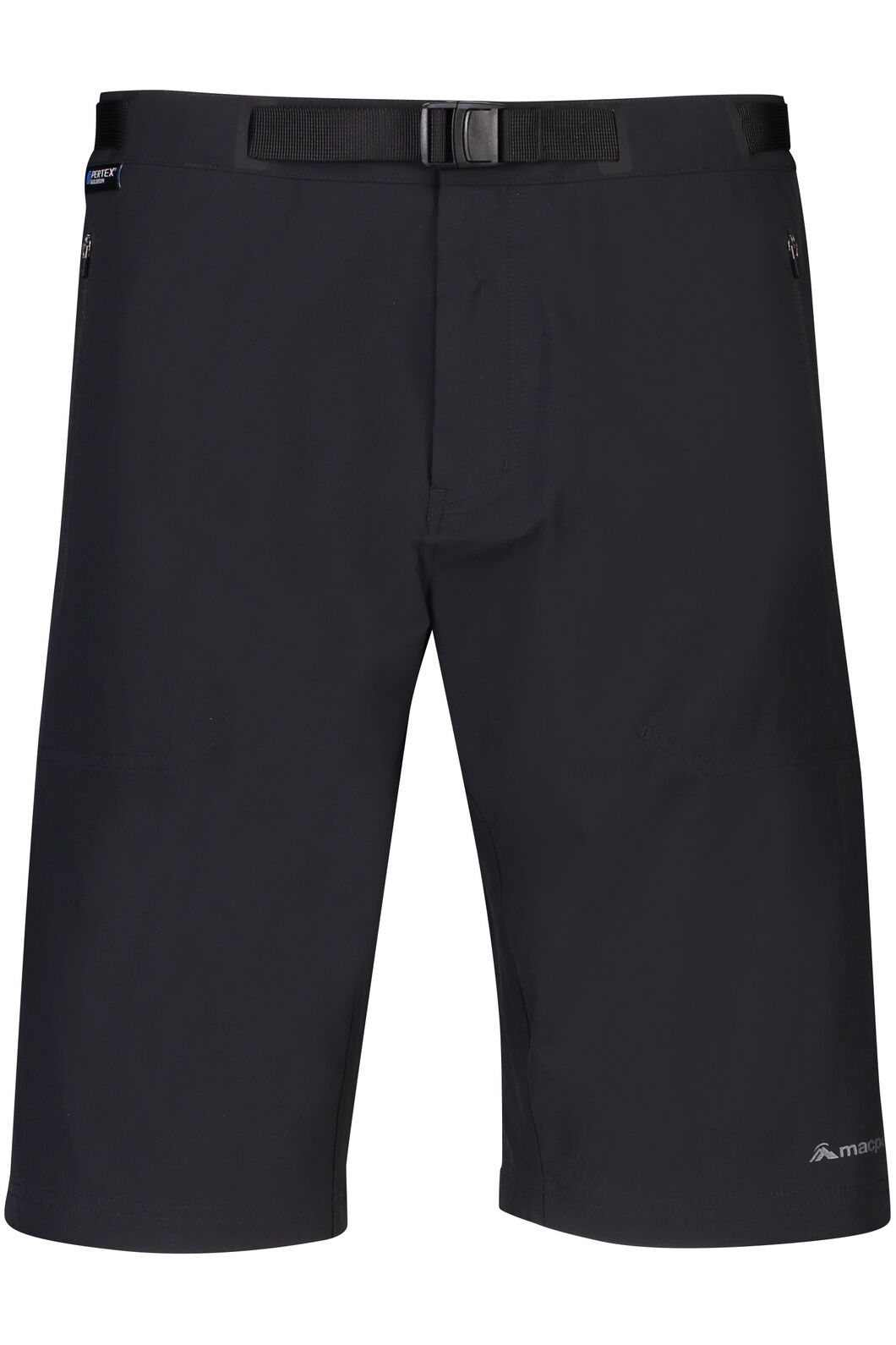 Macpac Trekker Pertex® Equilibrium Softshell Shorts — Men's, Black, hi-res