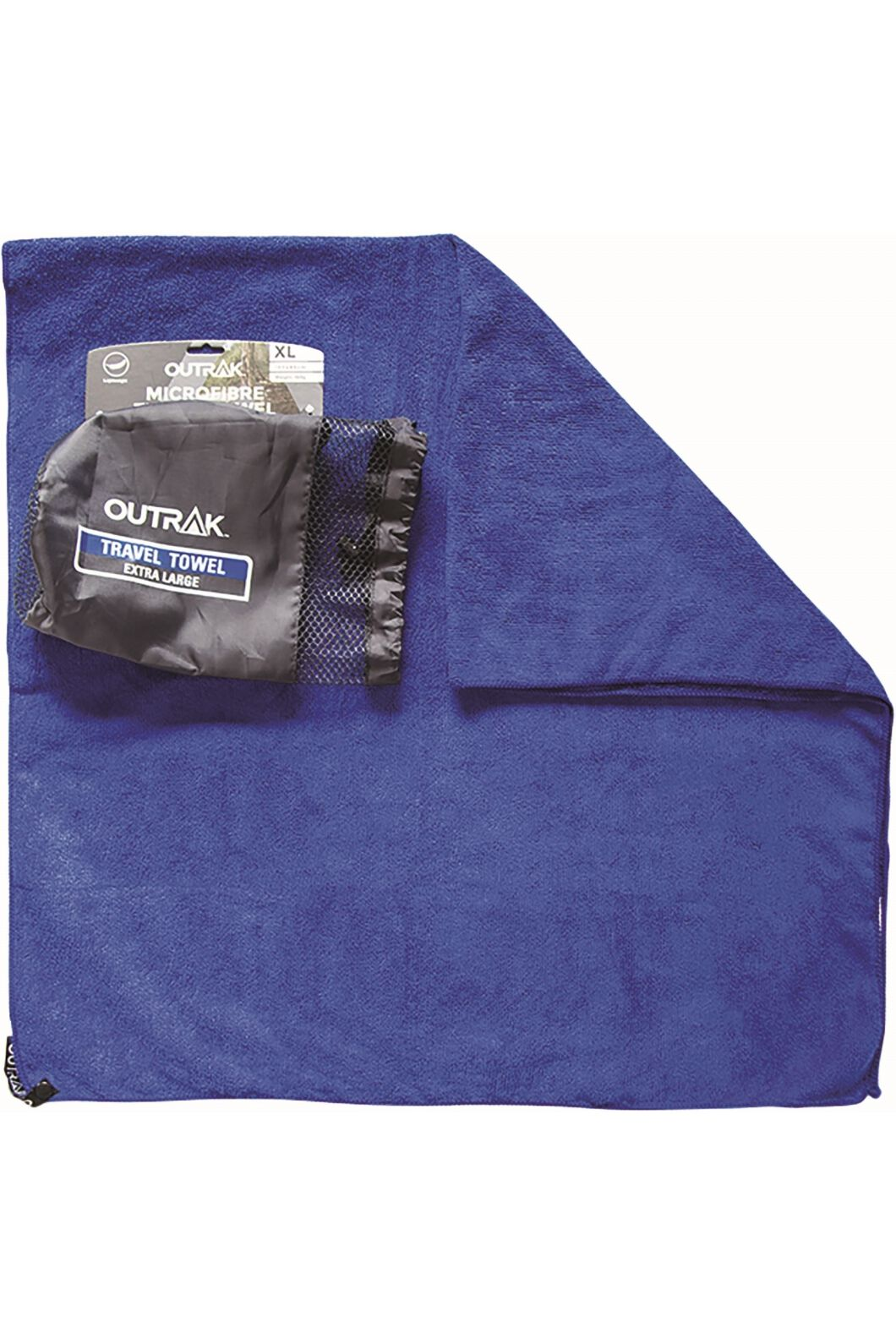 Outrak Microfibre Towel Extra Large  Extra Large, Navy, hi-res