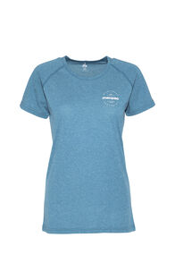 Macpac Polycotton Tee - Women's, Blue Coral, hi-res