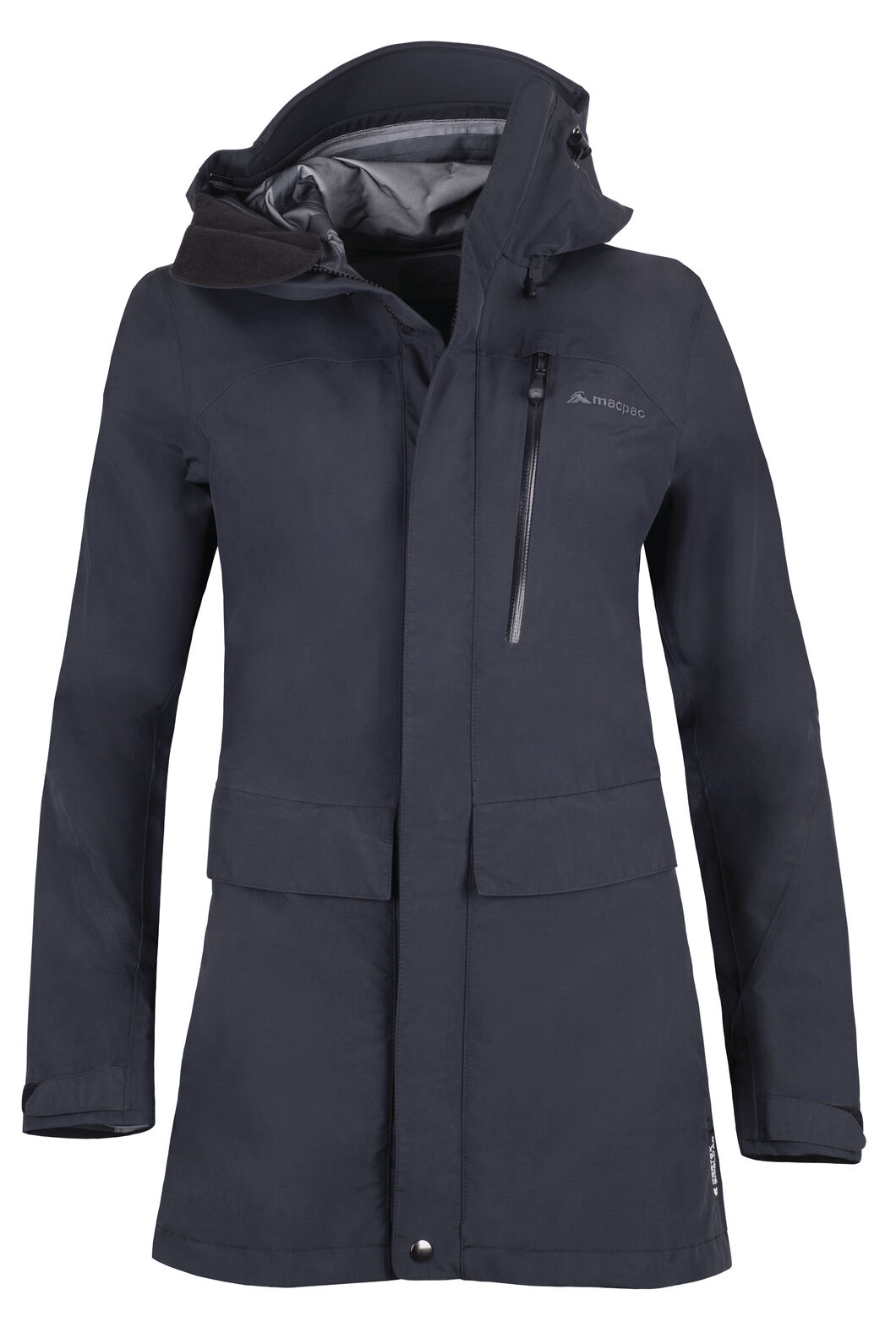 Macpac Resolution Pertex® Long Rain Jacket - Women's, Black, hi-res