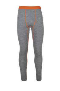 Macpac 220 Merino Long Johns - Men's, Mid Grey Marle/Puffins Bill, hi-res